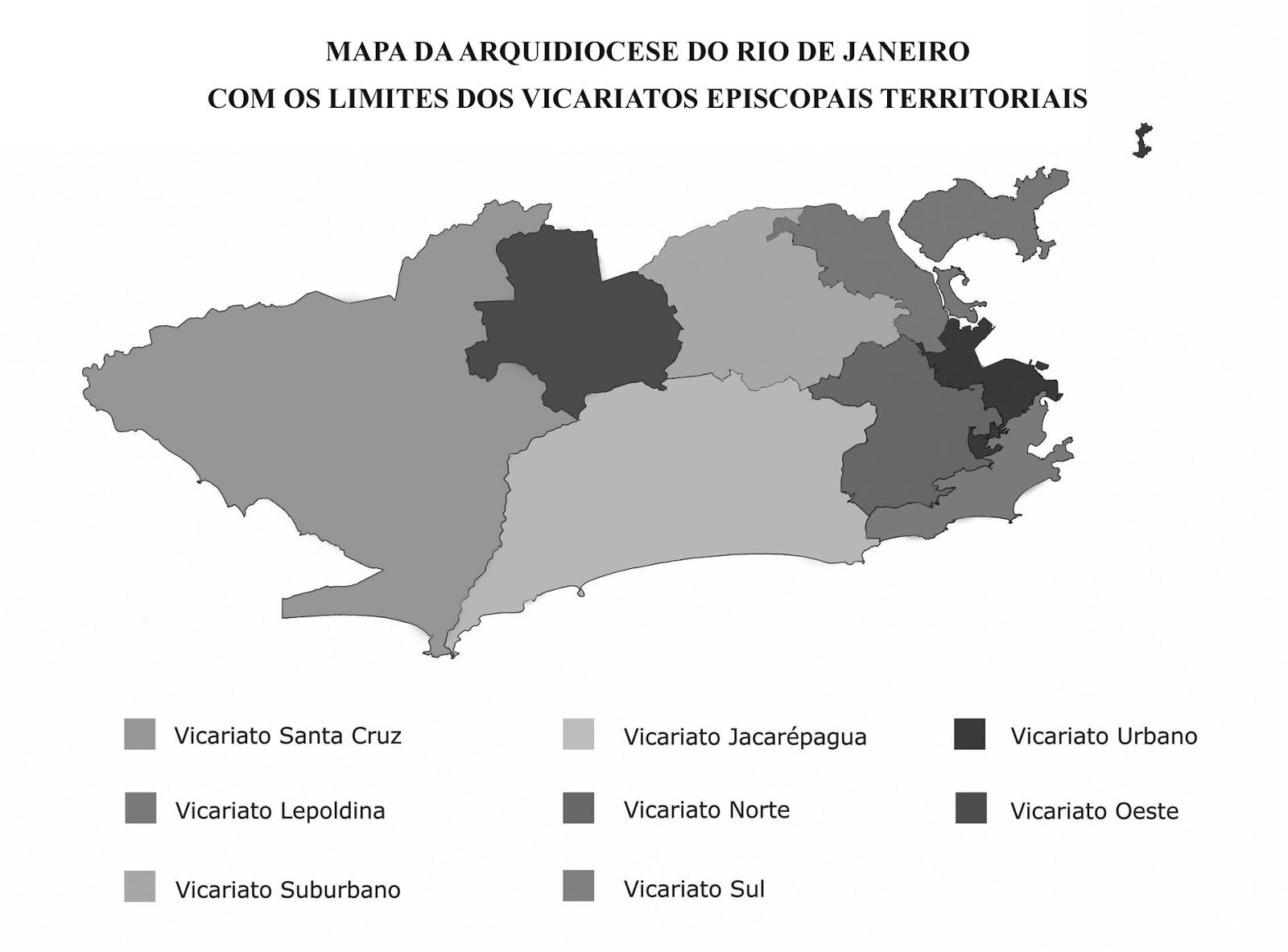 VICARIATOS DA ARQUIDIOCESE DO RIO DE JANEIRO