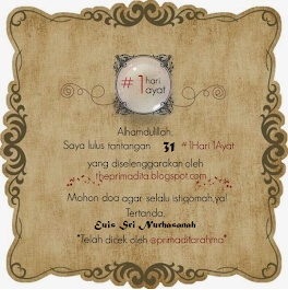 Sertifikat Blog #1Hari1Ayat