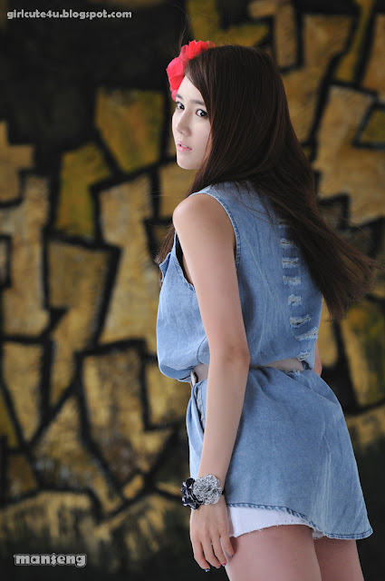 26 Han-Ga-Eun-Denim-Shirt-01-very cute asian girl-girlcute4u.blogspot.com