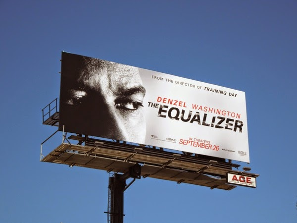 The Equalizer movie reboot billboard Sunset Strip