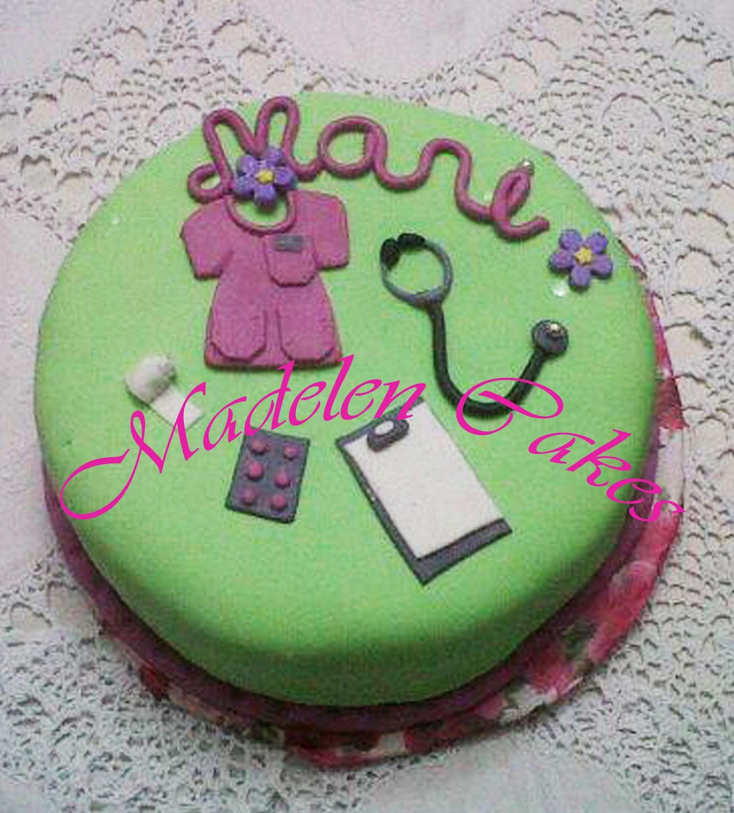 Madelen Cakes Creaciones: torta para doctor