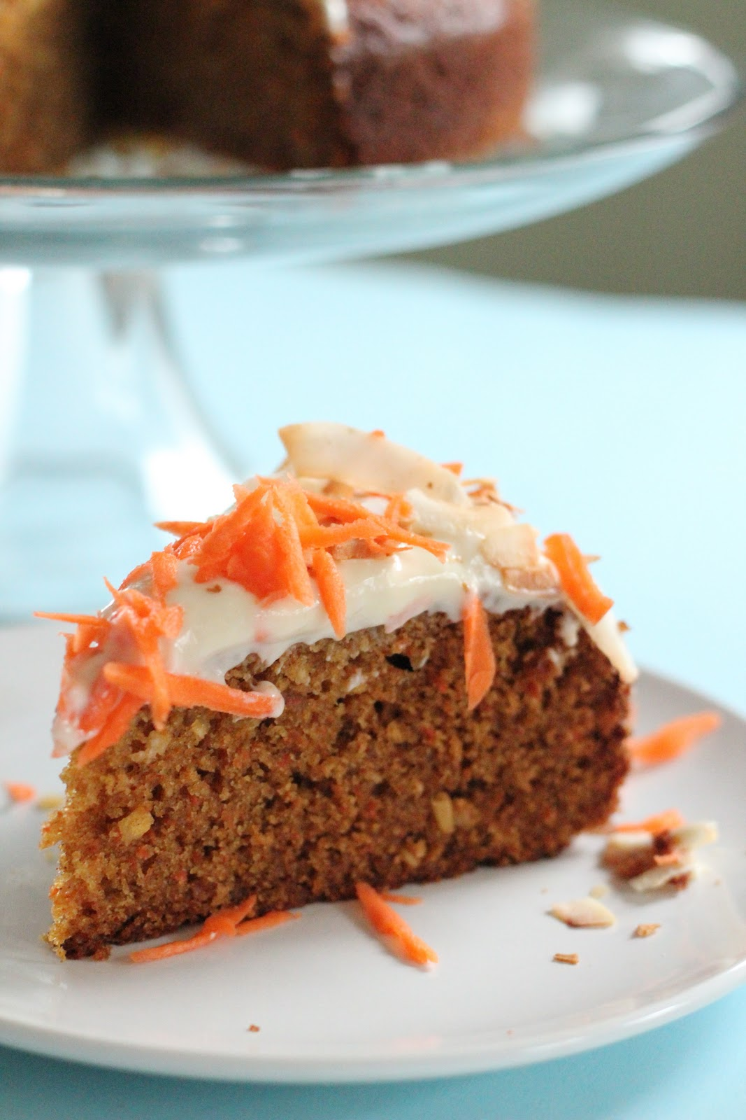 Carrot Cake With Honey And Whole Wheat