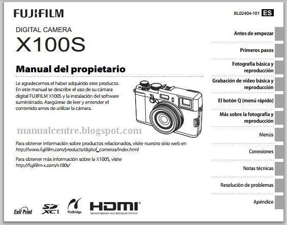 Fujifilm X100S Owner's Manual Cover