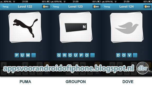 Logo Quiz Nederland cheats en antwoorden level 122 123 en 124