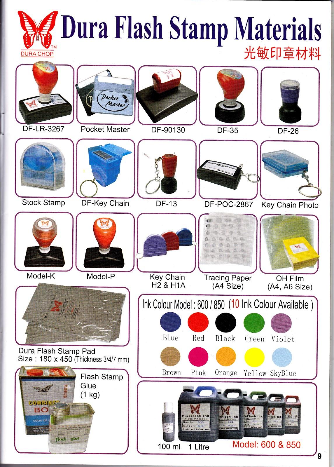 jenis Rubber Stamp kepada pelanggan kami dan akan memastikan rubber ...
