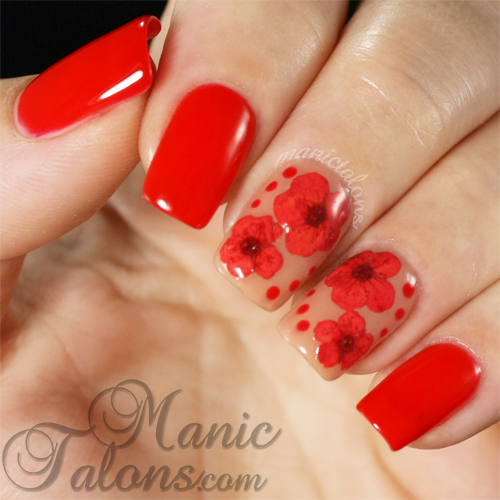 Dried Flower Manicure, Couture Gel Polish