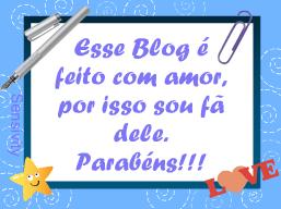 Esse Blog é Feito c Amor Por Isso Sou Fã Dele.Parabéns