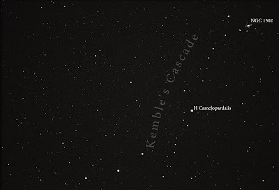 kemble's cascade straight line of stars