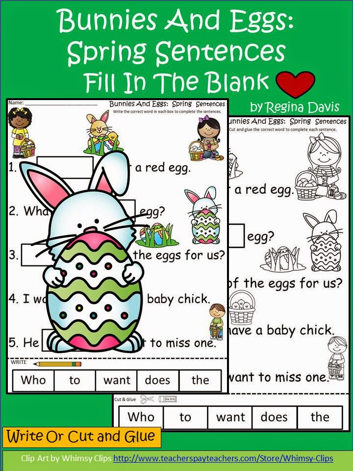 http://www.teacherspayteachers.com/Product/A-Bunny-And-EggsSentences-For-Spring-Fill-In-The-Blank-1208965