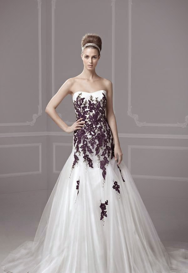 Wedding Dresses With Purple Accents. yellow Zuhair Murad Wedding ...