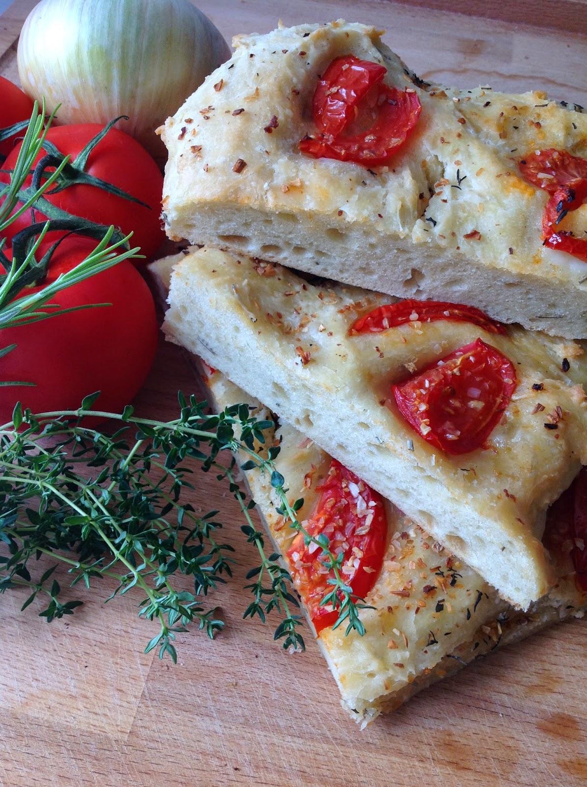 Focaccia aux herbes aromatiques blogs de cuisine - Herbes aromatiques cuisine ...