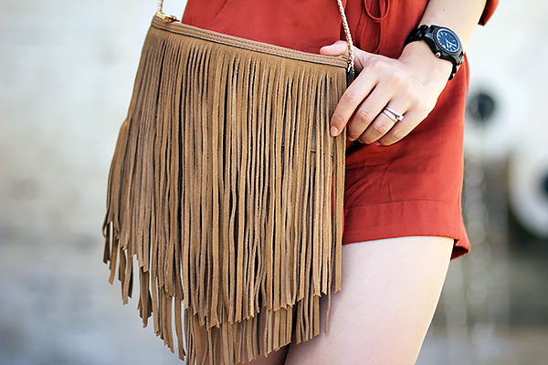 tan leather accessory