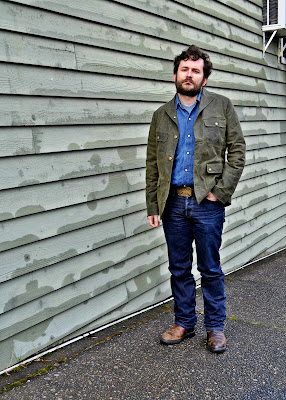 menswear, seattle, freeman's sporting club, waxed canvas, denim shirt, street style, beard