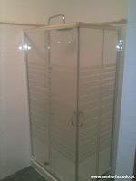 Instalação de base de ducha