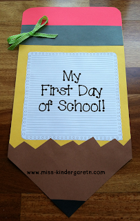 Craft Ideas Kindergarten on Helped Here Is A Fun Little First Day Of School Craft For You