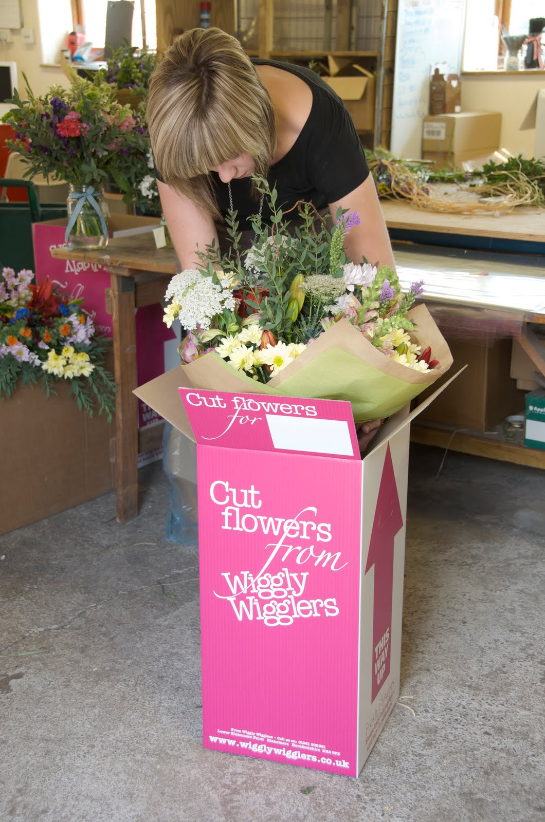 How to look after your bouquet and flowers wiggly wigglers the florists em and ricky with monty and three different wiggly bouquets izmirmasajfo Images