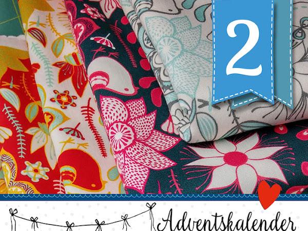 Adventskalender-Türchen Nr.2 - Wunderschöne Stöffchen und eine tolle Überraschung für Euch ! Lieblingsstoffe von der  Stoffschmiede gestalten
