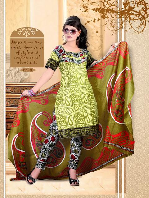 Fashionable Different Color Pure Cotton Salwar Suits