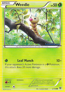 Weedle Pokemon X and Y Card