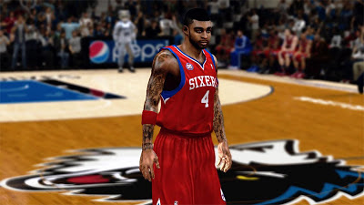 NBA 2K13 Dorell Wright Cyberface + Enhanced Tattoos