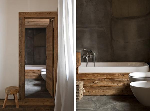 vista baño rustico y moderno