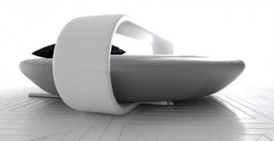 diseño cama redonda moderna