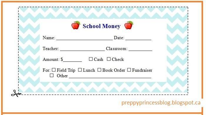 Preppy Princess: Free Printable Back to School Money Label