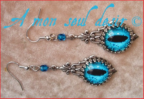 Boucles d'Oreilles Yeux Dragon Médiéval Fantastique Bijou Targaryen Game of Thrones Medieval Fantasy  Bijoux Khaleesi Jewelry Dragons Eyes Earrings