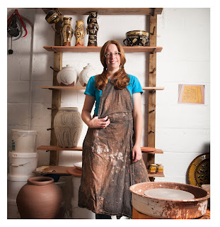 British Potter in her studio, Hannah McAndrew