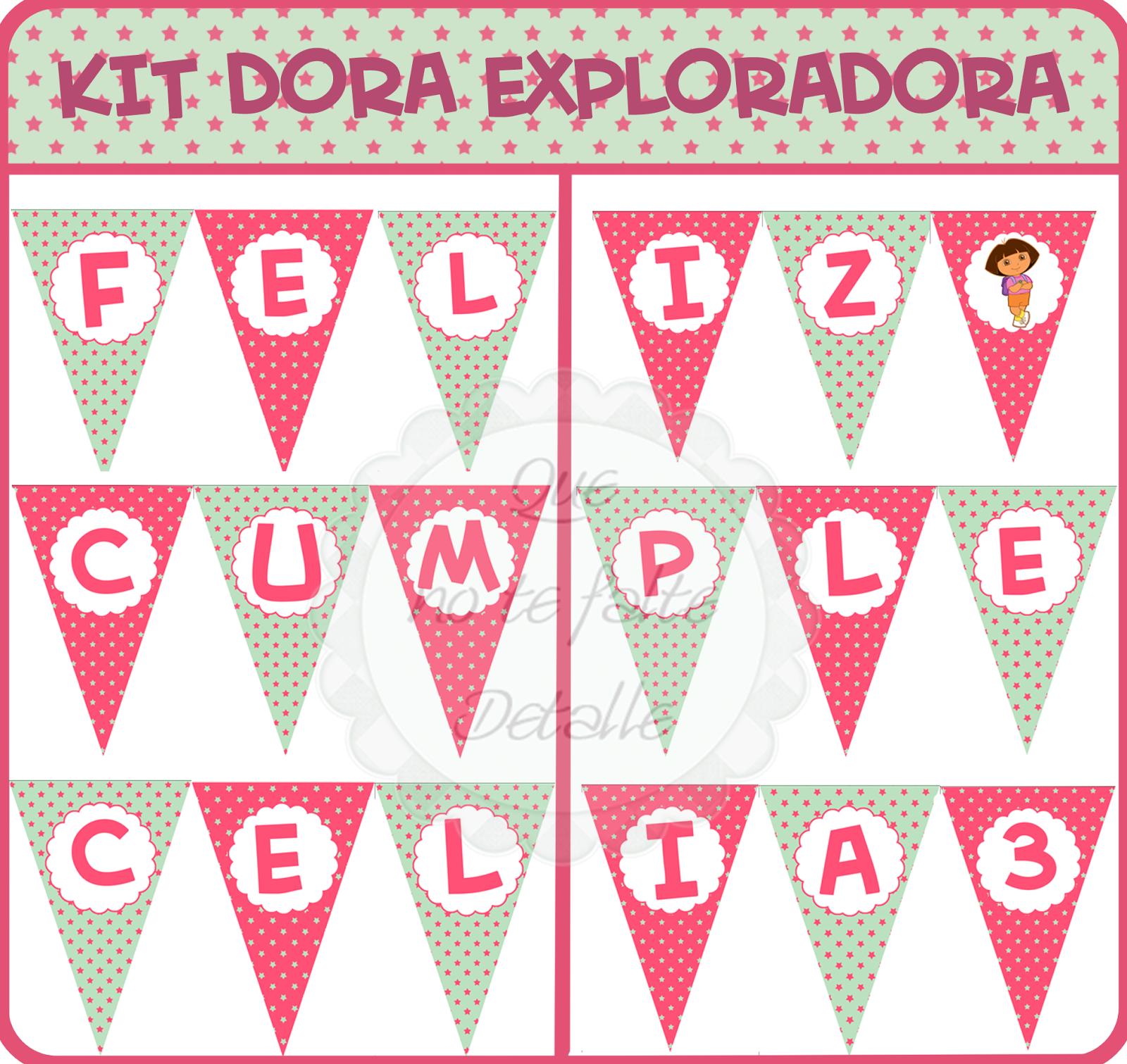 Banderin Personalizado Dora Exploradora