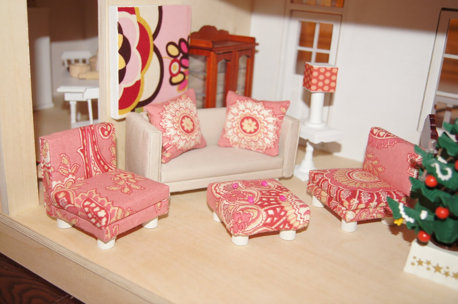 Doll House Makeover   Part 2 Building Living Room Doll House Furniture Part 15