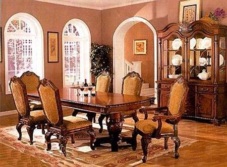 Brown dining room set