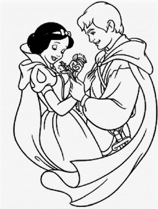 kids coloring pages snow white - photo#18