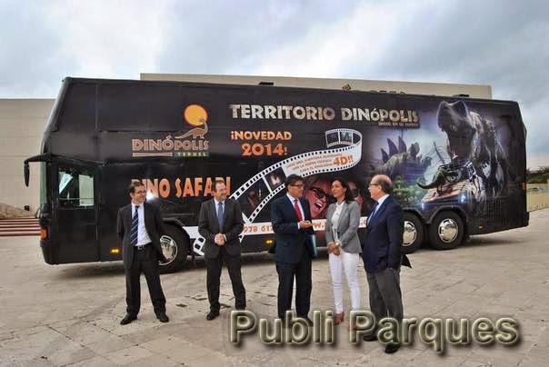 autobús tematizado Dinópolis