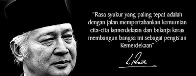 Kata Kata Bijak Soeharto dalam Bahasa Inggris dan Artinya