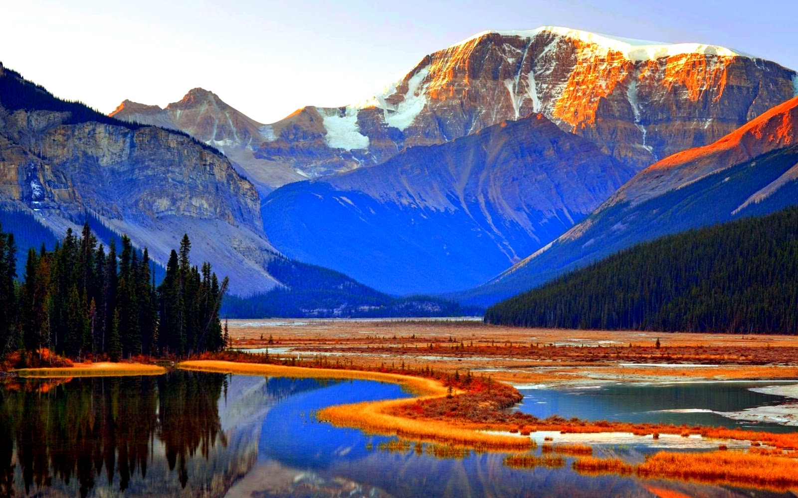 Jasper national park natural creations for Home wallpaper canada