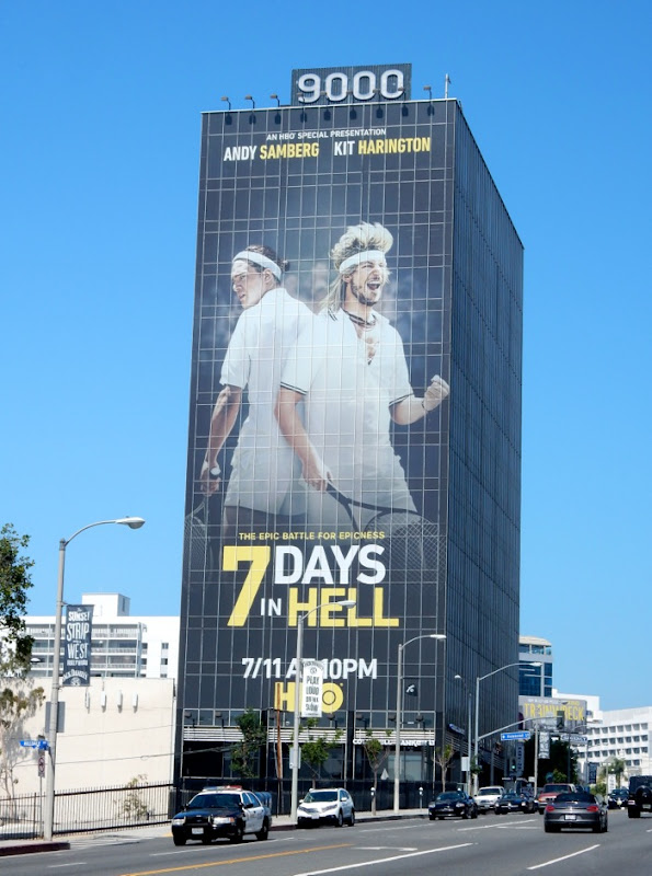 Giant 7 Days in Hell billboard Sunset Strip