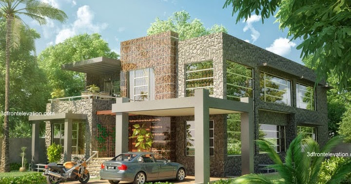 Front Elevation Basements : D front elevation beautiful modern kanal home