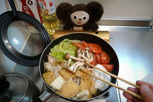 厚揚げと鶏肉の煮物トマト入りの作り方(3)