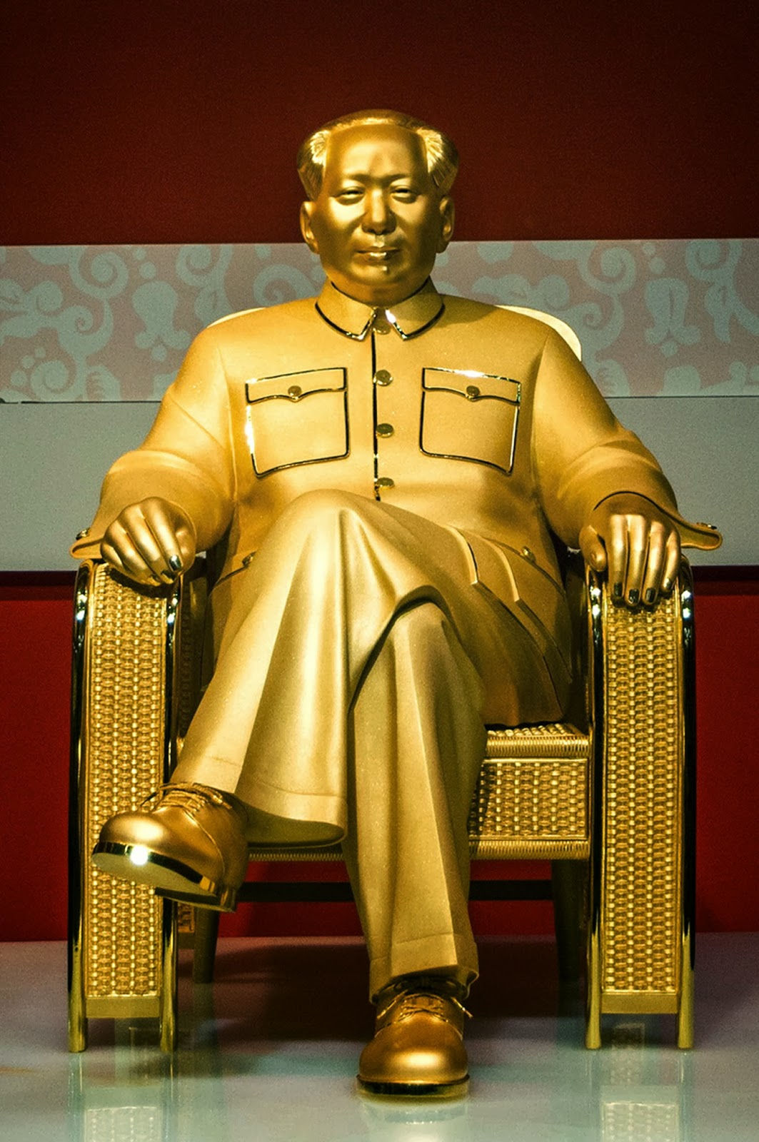 Golden, Jade, Mao Zedong, China, USD, Million, Exhibition, Anniversary, Founder, Father, Shenzhen, Sculpture, Communist, Politician, Politicians, Worth, Province, Asia, News,