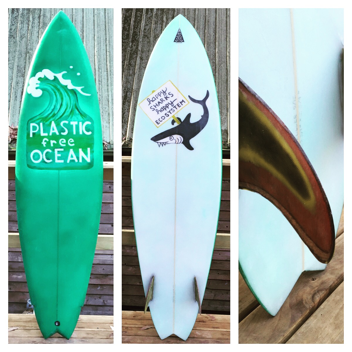 Model 12- Plastic Free Ocean twin fin