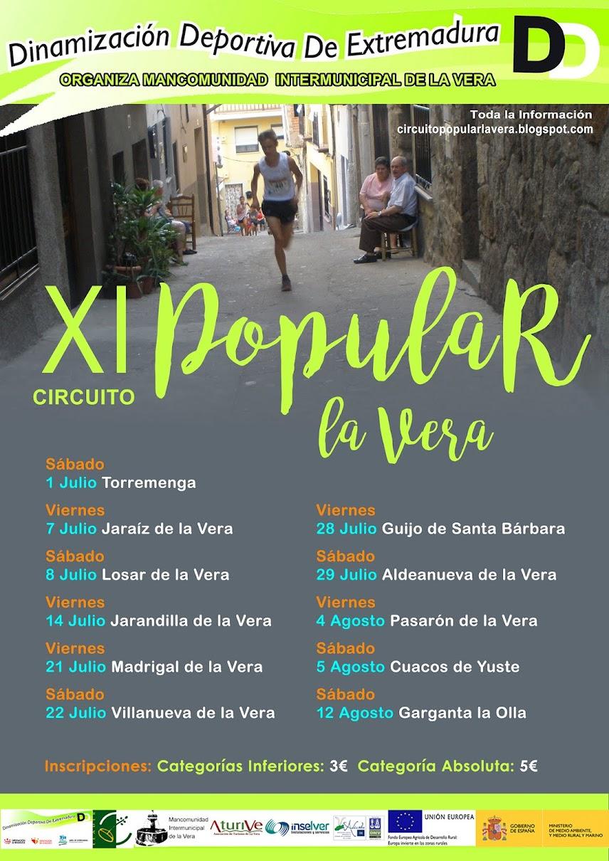 XI EDICIÓN CIRCUITO POPULAR LA VERA