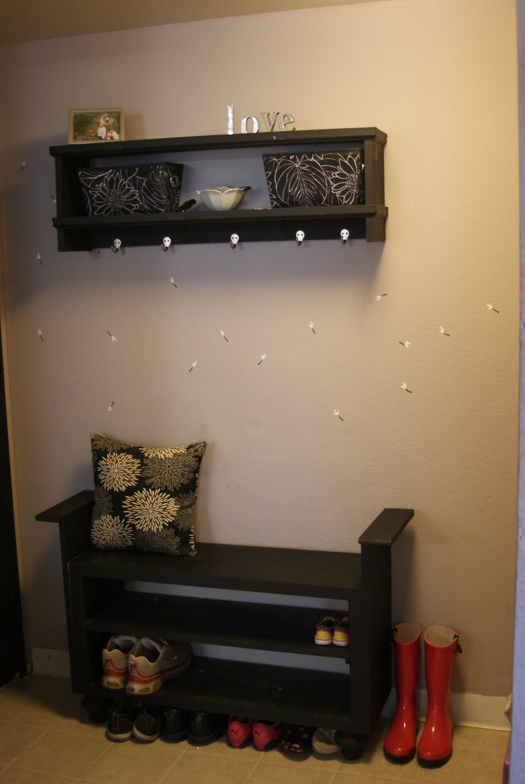 project caitlins life blog diy entryway bench and shoe rack black color shoe rack storage sliding