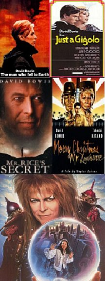 Just A Gigolo, Mr. Rice's Secret, Merry Christmas Mr. Lawrence, Man Who Fell to Earth, Labyrinth
