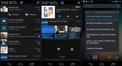 Nueva barra de notificaciones de android 4.1, Android 4.1, Jelly Bean