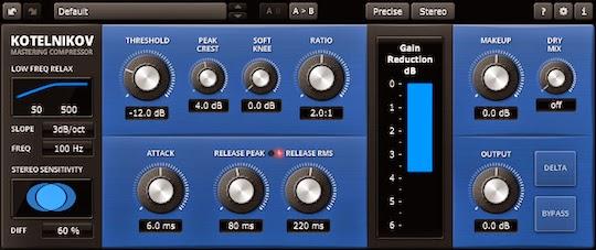 Compresor de audio gratis. TDR Kotelnikov