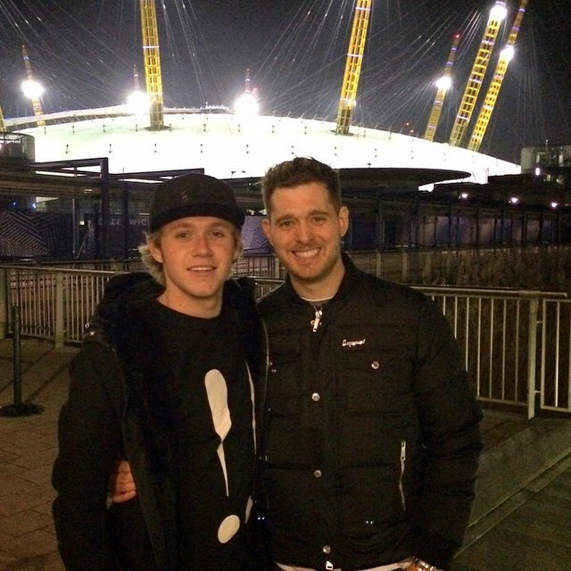 one direction, niall horan, michael bublé, the o2 arena, london, uk, 15.12.14