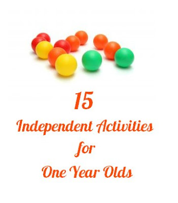 15 Independent Activities For 1 Year Olds