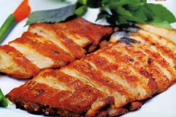 Thịt heo nướng ngũ vị