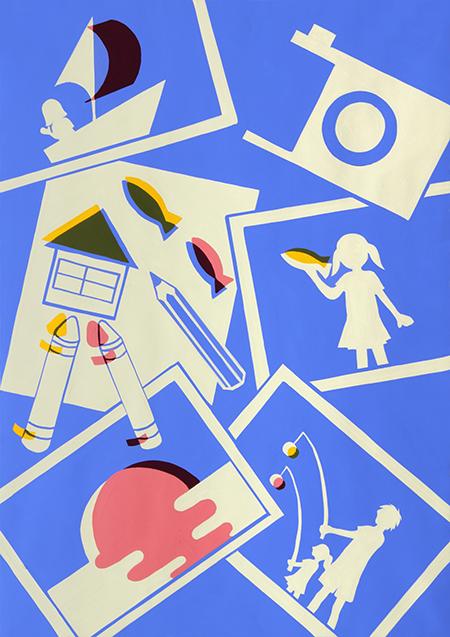 多摩美術大学情報デザイン学科 入試再現作品 色彩構成